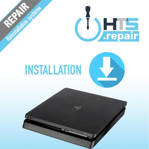 Installation système PS4 Slim.