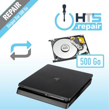 Remplacement disque dur 500 Go pour PS4 Slim.