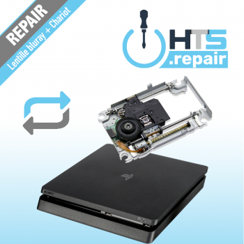 Remplacement lentille Bluray + Chariot PS4 Slim.