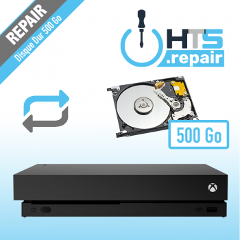 Remplacement disque dur 500Go Xbox One X