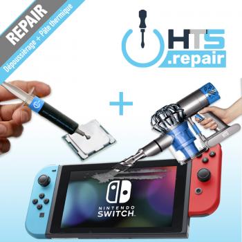 Dépoussiérage et remplacement de la pâte thermique Nintendo Switch