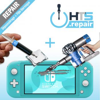 Dépoussiérage et remplacement de la pâte thermique Nintendo Switch lite