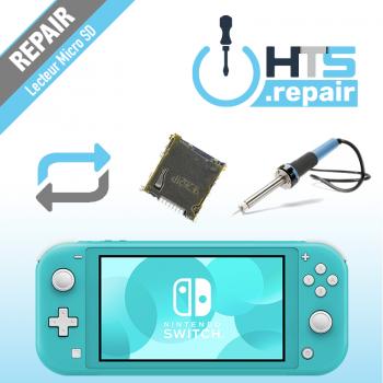 Remplacement lecteur carte micro SD Nintendo Switch lite