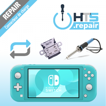 Remplacement connecteur de charge Nintendo Switch lite