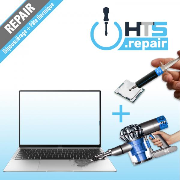 Dépoussiérage et remplacement de la pâte thermique PC portable