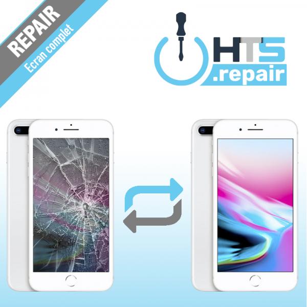 Remplacement écran complet (LCD + Tactile) Apple iPhone 8 Plus blanc