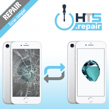 Remplacement écran complet (LCD + Tactile) Apple iPhone 7 blanc