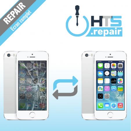Remplacement écran complet (LCD + Tactile) Apple iPhone 5S blanc
