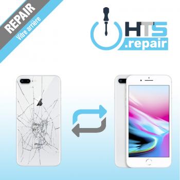 Remplacement vitre arrière APPLE iPhone 8 Plus blanc