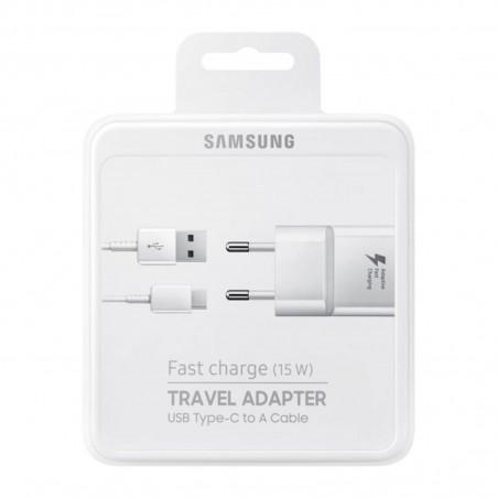 Chargeur secteur Samsung 2A + câble USB type-C