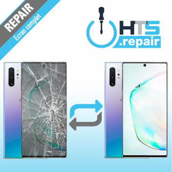 Remplacement écran complet (LCD + Tactile) Samsung Galaxy Note 10+ (N975F) Argent Stellaire