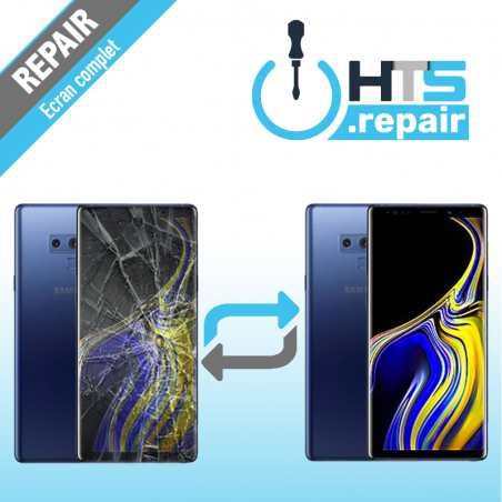 Remplacement écran complet (LCD + Tactile) Samsung Galaxy Note 9 (N960F) Bleu