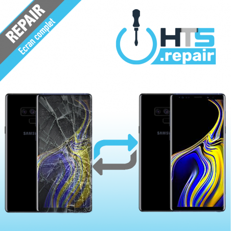 Remplacement écran complet (LCD + Tactile) Samsung Galaxy Note 9 (N960F) Noir