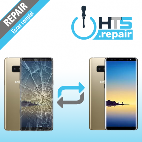 Remplacement écran complet (LCD + Tactile) Samsung Galaxy Note 8 (N950F) Or