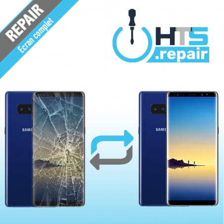 Remplacement écran complet (LCD + Tactile) Samsung Galaxy Note 8 (N950F) Bleu
