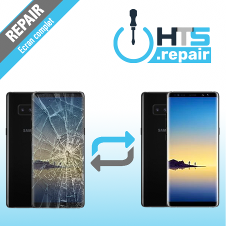 Remplacement écran complet (LCD + Tactile) Samsung Galaxy Note 8 (N950F) Noir