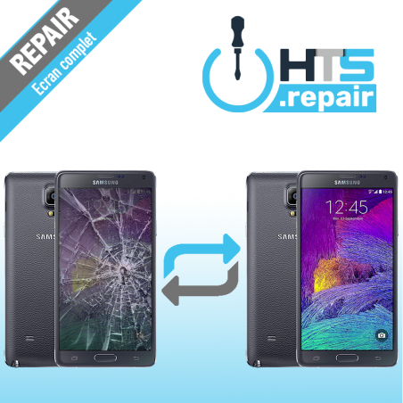 Remplacement écran complet (LCD + Tactile) Samsung Galaxy Note 4 (N910F) Noir