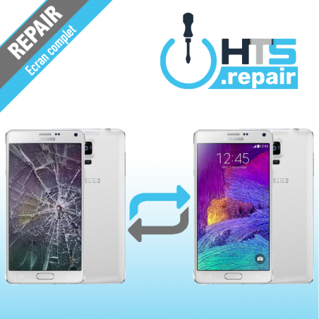 Remplacement écran complet (LCD + Tactile) Samsung Galaxy Note 4 (N910F) Blanc