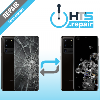 Remplacement écran complet (LCD + Tactile) Samsung Galaxy S20 Ultra (G988F) Noir