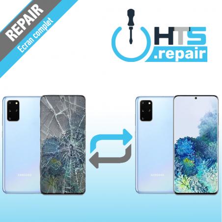 Remplacement écran complet (LCD + Tactile) Samsung Galaxy S20+ (G985F) Bleu