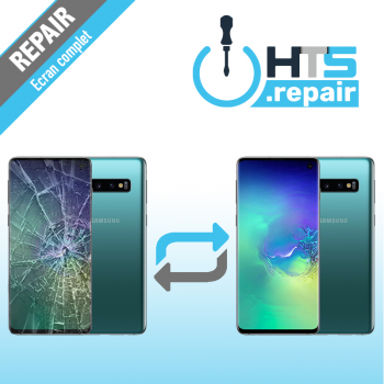 Remplacement écran complet (LCD + Tactile) Samsung Galaxy S10 (G973F) Vert