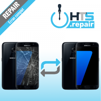 Remplacement écran complet (LCD + Tactile) Samsung Galaxy S7 (G930F) Noir