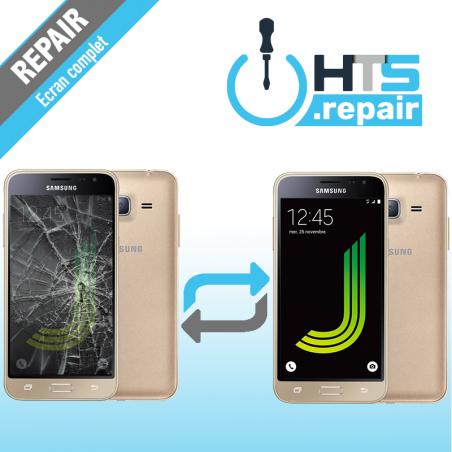 Remplacement écran complet (LCD + Tactile) Samsung Galaxy J3 2016 (J320F) Or
