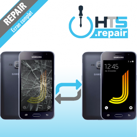Remplacement écran complet (LCD + Tactile) Samsung Galaxy J1 2016 (J120F) Noir