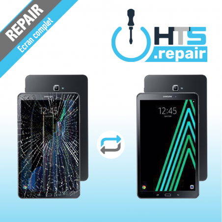 """Remplacement écran complet (LCD + Tactile) SAMSUNG Galaxy Tab A 10,1"""" 2016(T580/T585)"""