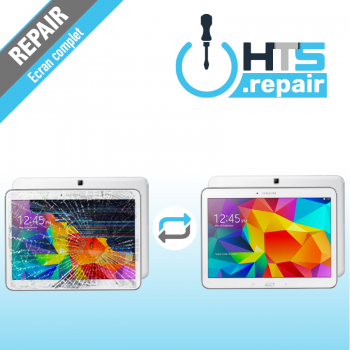 """Remplacement écran complet (LCD + Tactile) SAMSUNG Galaxy Tab 4 10,1"""" (T530/T535)"""