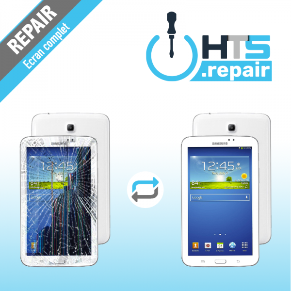 """Remplacement écran complet (LCD + Tactile) SAMSUNG Galaxy Tab 3 7"""" (T210/T211)"""