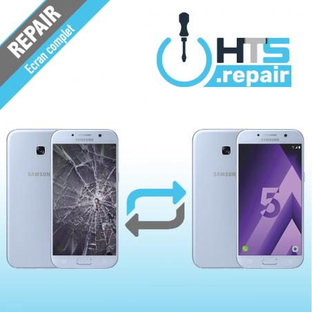 Remplacement écran complet (LCD + Tactile) Samsung Galaxy A5 2017 (A520F) Bleu