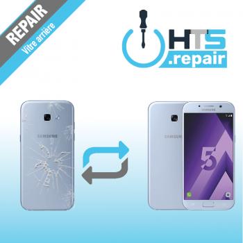 Remplacement vitre arrière d'origine SAMSUNG Galaxy A5 2017 (A520F) bleu
