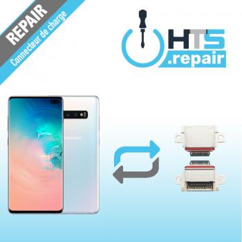 Remplacement connecteur de charge SAMSUNG Galaxy S10+ (G975F) blanc