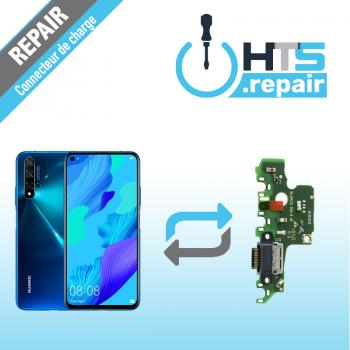 Remplacement connecteur de charge HUAWEI Nova 5T sapphire blue